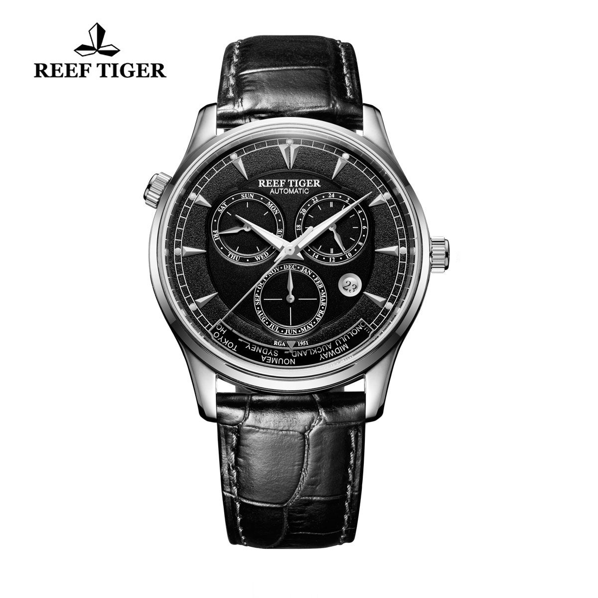all black stainless steel mens watches